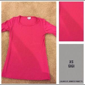 Lularoe XS Gigi solid hot pink